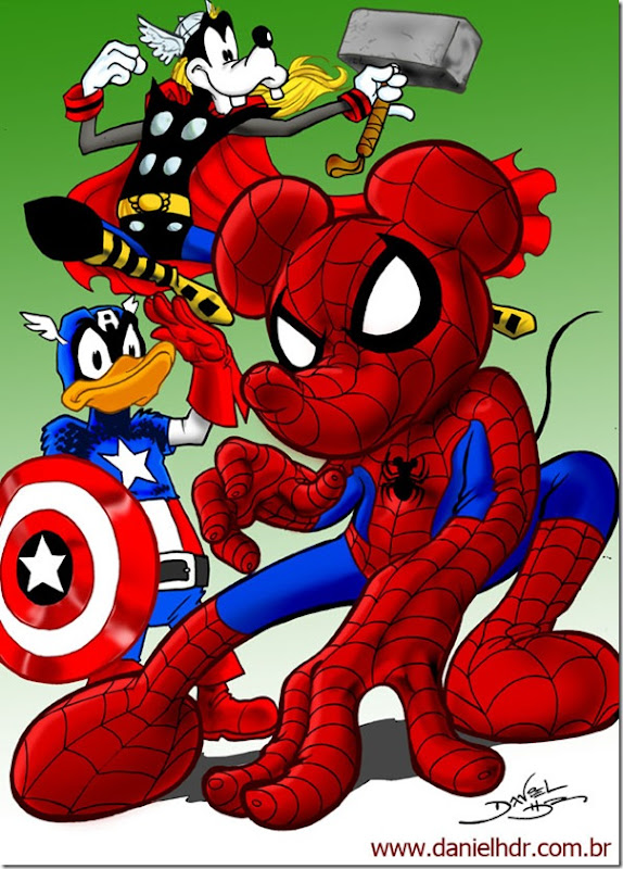 Marvel_and_Disney_by_danielhdr
