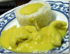 Timbal de arroz y pollo con naranja 3