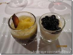 La Huertona - Chocolate con salsa de Mandarina y Tarta de Queso