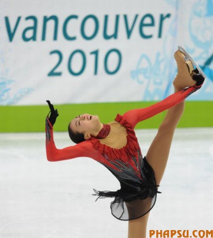 Silver medalist Japan's Mao Asada, competes in the Women's Figure Skating free program, at the Pacific Coliseum in Vancouver during the XXI Winter Olympics, on February 25, 2010.     AFP PHOTO / DIMITAR DILKOFF (Photo credit should read DIMITAR DILKOFF/AFP/Getty Images)