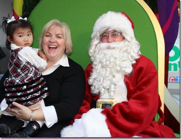 Hannah's 1st Time Meeting Santa!  Nov 27, 2010 21 mos.