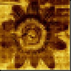 recursive alien pixellated