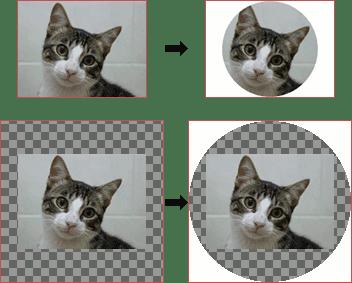 Resultado de aplicar el filtro Coord. polares y su inverso. Arriba, sin agrandar la capa primero; abajo, agrandándola.