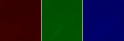 Descomposición RGB del recorte correspondiente a la órbita 533 (vista en rojo, verde y azul)