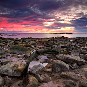 Here by Eris Suhendra - Landscapes Sunsets & Sunrises ( clouds, waterscape, travel, beach, seascape, landscape, kalimantan, sky, frame, nature, sunset, indonesia, nikon )