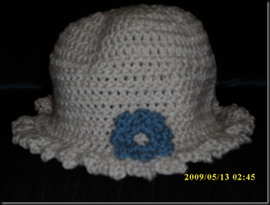 Flower Applique Hat