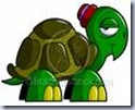 Turtle Clip Art with little red hat on