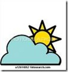 Partly Cloudly Clip Art