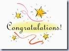 Congratulation with Stars Clip Art
