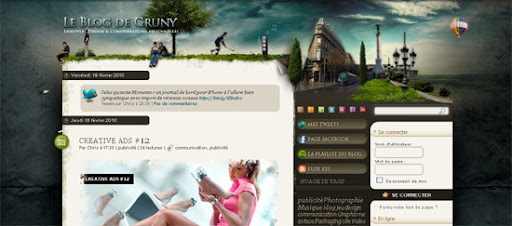 Le Blog de Gruny - Inspiring cityscape in web design example