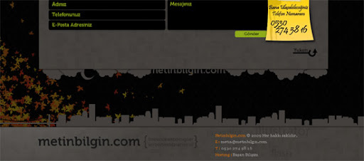 Metin Bilgin - Inspiring cityscape in web design example