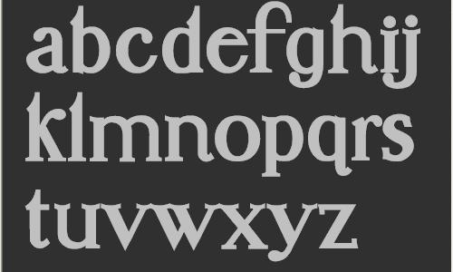 Unamed Serif Font Project