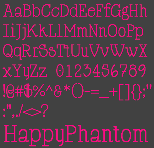 HappyPhantom Font Preview