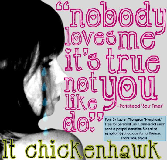 LT Chickenhawk Font Poster
