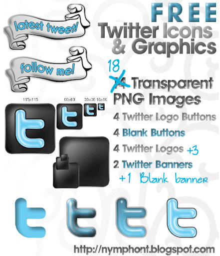 Free Twitter Icons and Graphics