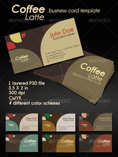 Coffee Latte - Business Card Template