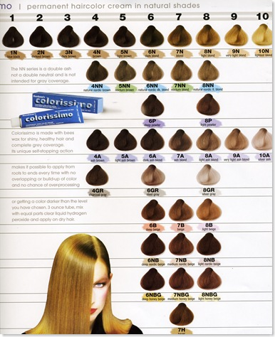 A chart of colors, hair charts, hair coloring charts, hair color charts,