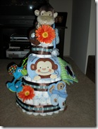 Diaper cake for Ashley