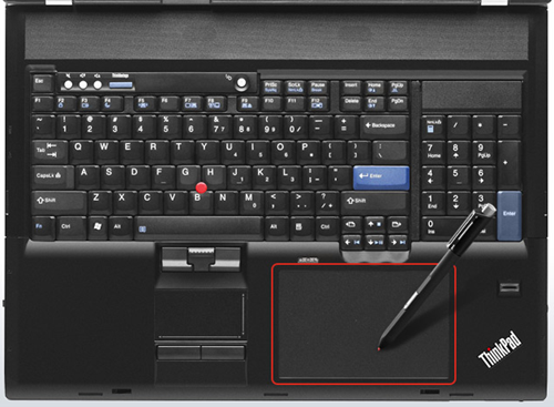 A real keyboard, number pad and Wacom digitizer!