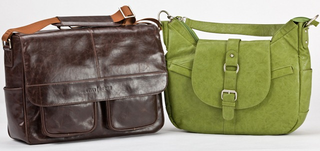 Kelly Boy Bag - Brown (Left) &amp; Hobo - Grassy Green (Right)