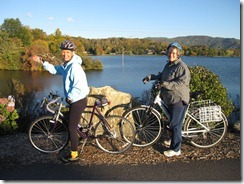 BicycleHaywoodNC members along the shores of Lake Junaluska