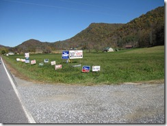 Political Signs in Spring Creek, NC