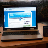 """Blogparade: gewinne ein Sony Vaio CR31 S/L Notebook hier ist mein Blog-""""Arbeitsplatz"""" zu sehen ein Fujitsu ESPRIMO V6535"""