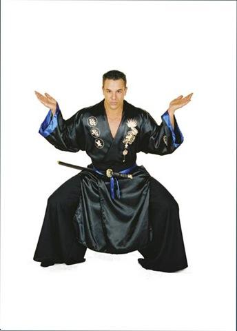 disfraz de Samurai negro adulto