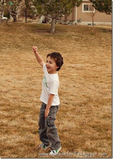 Evan's victory dance