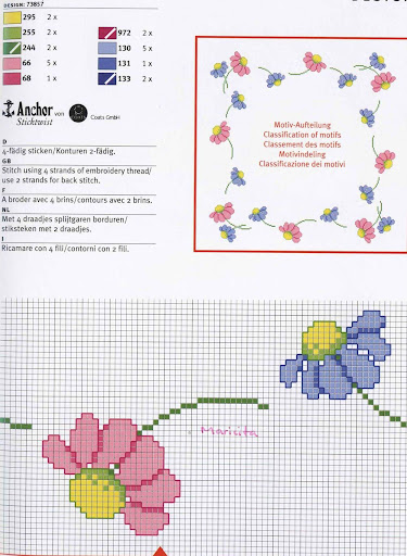 Un colorido contro con margaritas rosas y celestes, muy delicado Guarda%20flores2