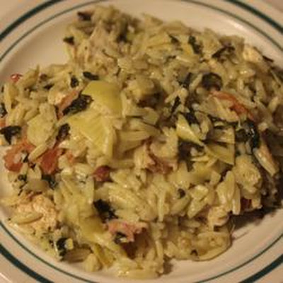 Orzo with Chicken and Artichokes