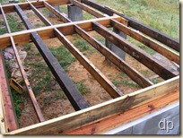 first three 4x6 joists