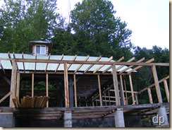 porch rafters on the front