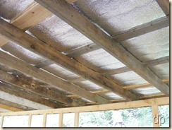 radiant barrier insulation under the metal