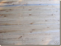 porch floor boards screwed in place