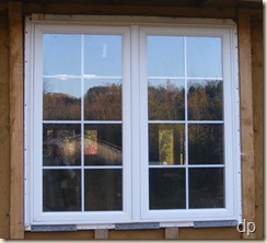 One of the casement windows