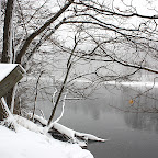 Farmington River Reservoir snowscape