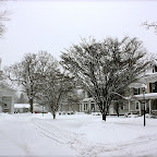 Collinsville Green in Winter