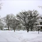 Collinsville Green in Winter