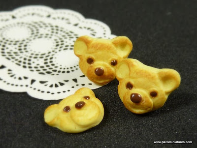 Miniature Teddy Bear Cookies - Paris Miniatures, Emmaflam & Miniman