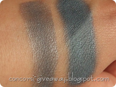 Giveaway-Minerale-Puro-make-up-Ombretto-Acciaioblu-Swatch-Asciutto-Bagnato