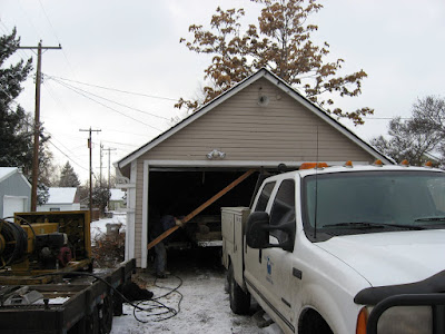 Loading the Garage onto the Trailer