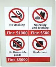 förbjuden Durian i singapore