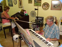 Carole Littlejohn accompanying Michael Bramley and using the GA1 as a full keyboard piano very effectlvely