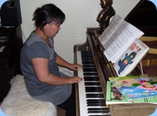 """Japanese house guest, Mayu Murakami played a lovely Japanese ballad for us called """"Love, Love, Love"""". Thank you Mayu for sharing your lovely music with the Club over the last few months."""