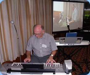 Alan Dadson brought his Yamaha Tyros 3 keyboard and played 6 lovely arrangements for us
