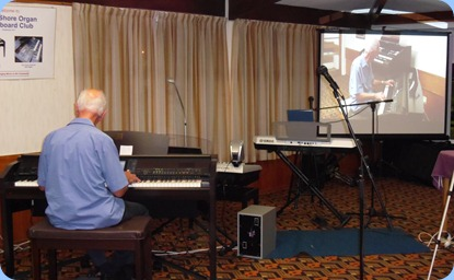 Our surprise guest artist, John Perkin, played six great songs for us on our Clavinova. John played with the rhythm/styles very well and had little chance to familiarize with the Clavinova.
