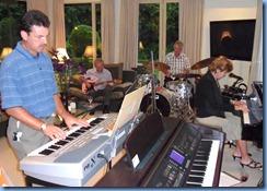 Peter Littlejohn (keyboard), Brian Gunson (guitar), Ian Jackson (drums) and Carole Littlejohn (grand piano) jamming away nicely