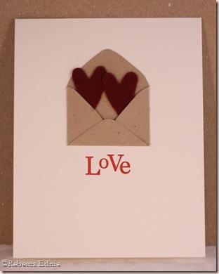 envelope love plain