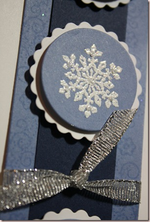 snowflake card closeup circle